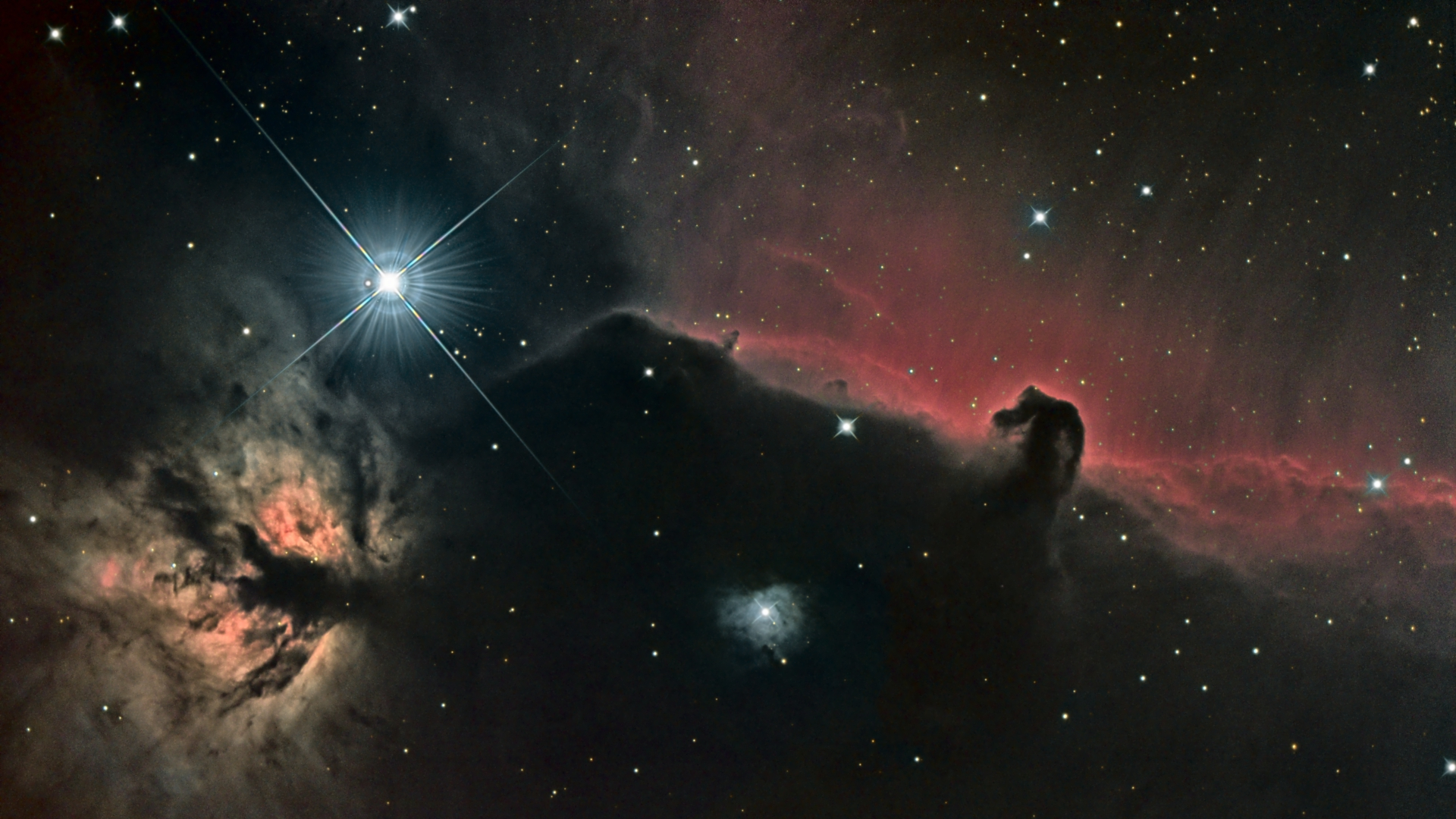 Horsehead and Flame Nebula